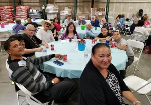Mary Ann Buggs friends from the Food Bank of Contra Costa and Solano at the Annual Volunteer Luncheon