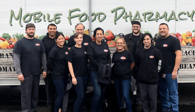 Volunteers helping at Mobile Food Pharmacy Boxing Project at Food Bank of Contra Costa and Solano
