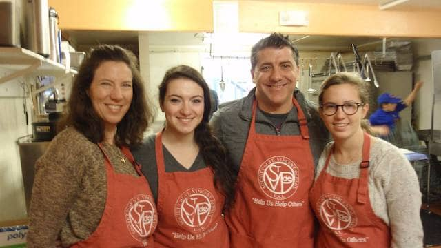 Volunteers at St. Vincent de Paul Society of Marin County