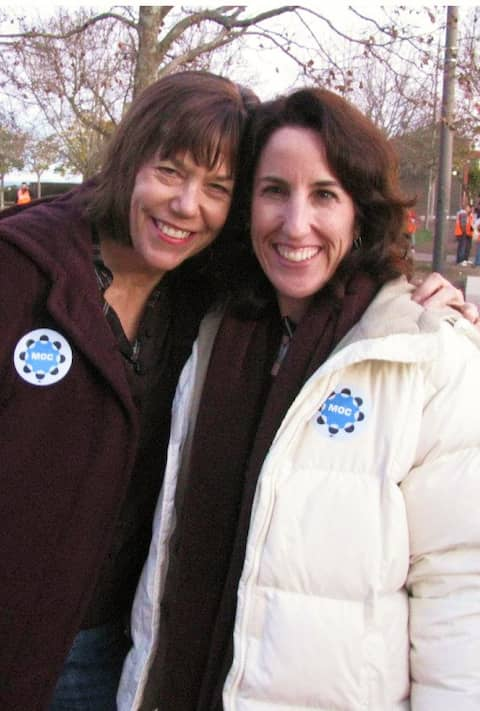 Christine Paquette (right), executive director at St. Vincent de Paul Society of Marin County with Robin Brandes