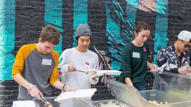 Volunteers at City Impact Leadership School