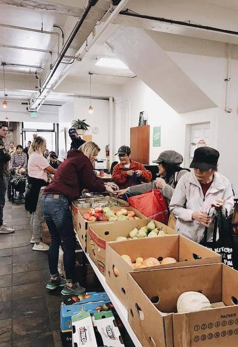 San Francisco City Impact volunteers at the pop-up pantry