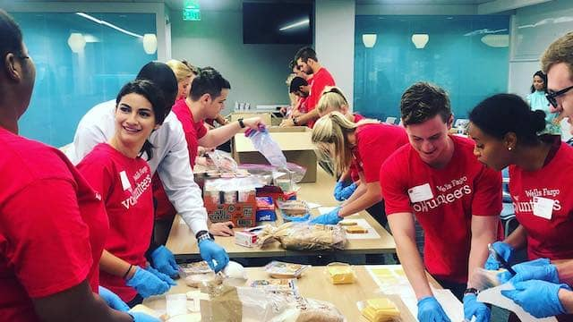 Wells Fargo's volunteers at St Vincent de Paul Society of San Francisco