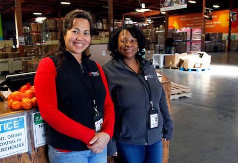 LaWonda and Nancy at Alameda County Community Food Bank