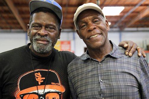 Danny Glover volunteers at Alameda County Community Foodbank