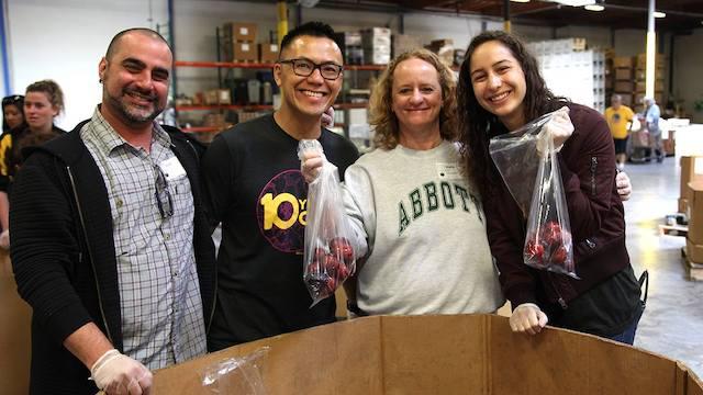 Volunteers at Alameda County Community Food Bank