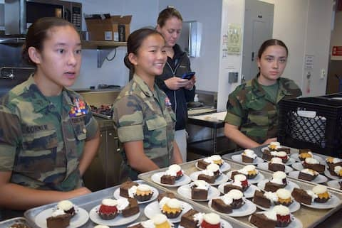 Special thank you to The Golden Gate Young Marines as wonderful volunteer servers at luncheon and silent auction