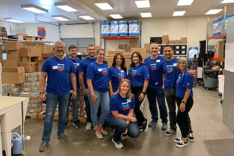 Many thanks to the volunteers from Chevron who ran our Food Distribution program. You rocked it!