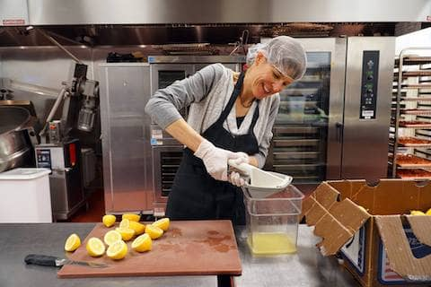 Under the leadership of our creative chef, Don Nolan, volunteers transform donated ingredients into nutritious and delicious entrées for low-income seniors and families throughout Sonoma County