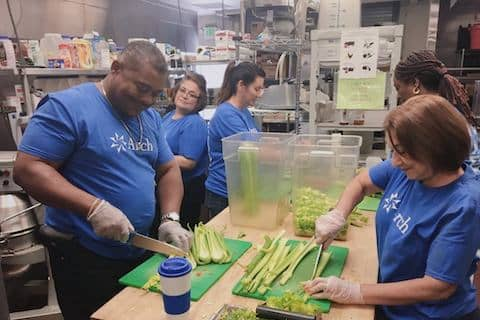 Volunteer at Loaves and Fishes of Contra Costa with fun