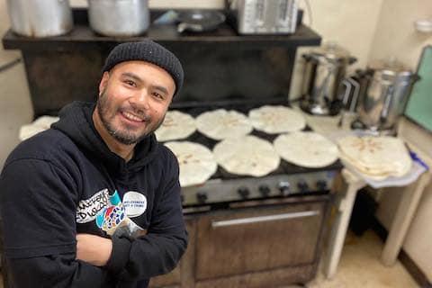 Eastoakland Burrito Roll volunteer