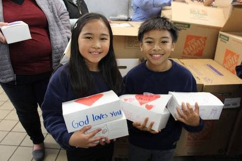 Thank you to St. Joachim School for sending representatives from every grade level to bring lunch boxes to our dining room guests.
