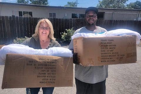 Thank you CPC Danville for giving us a large donation of towels for our Monday Morning Homeless Outreach