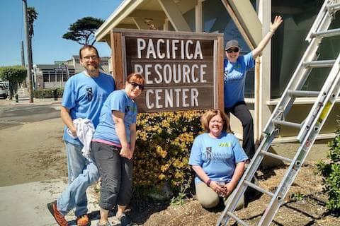 A HUGE thanks to our Rebuilding Together Peninsula volunteer group - Abigail, Kathy, Stefanie, and Christoper