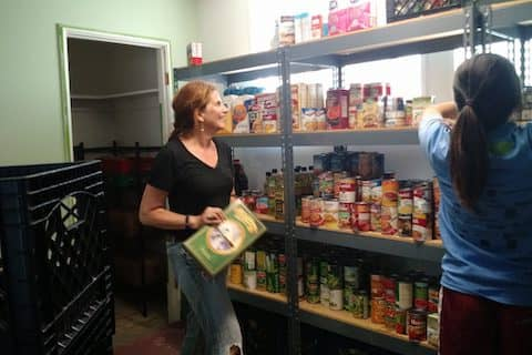Volunteering at Pacifica Resource Center pantry