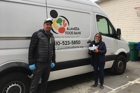 J-Roll and his wife Johari, though their The Rollins Family Foundation donated $5,500 to the Alameda Food Bank