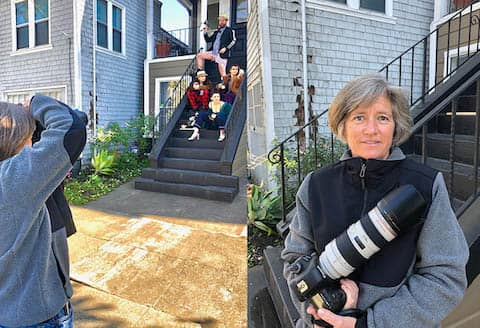 Photographer Anne Kohler raising money for AFB taking pictures of people on their porches