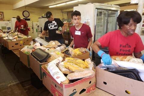 Faith Food Fridays volunteers