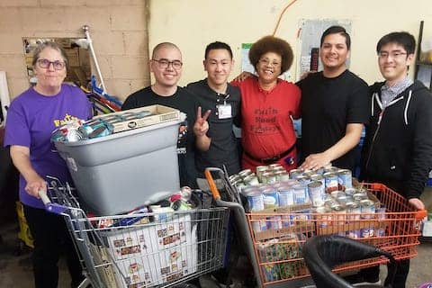 Touro University students and faculty donated 1500 cans of food