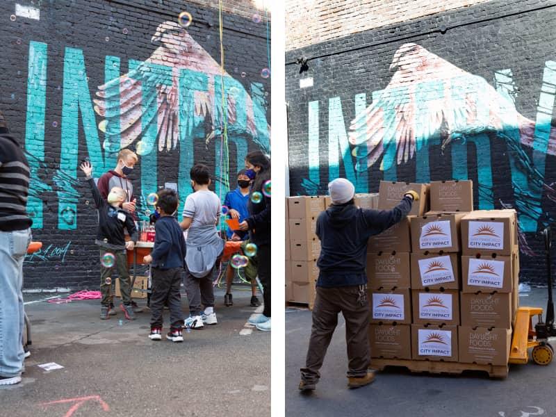 Volunteers at San Francisco City Impact