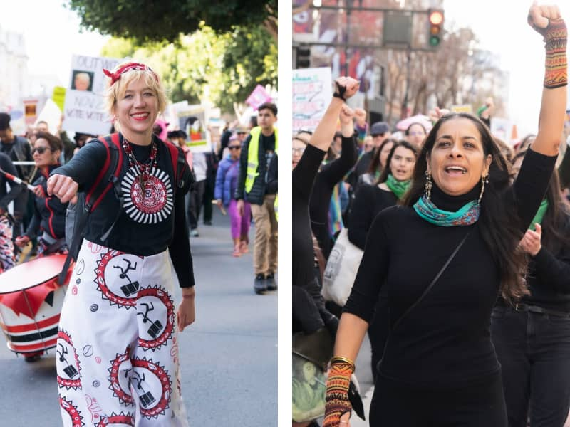 Volunteers at Women's march (Glide, San Francisco)