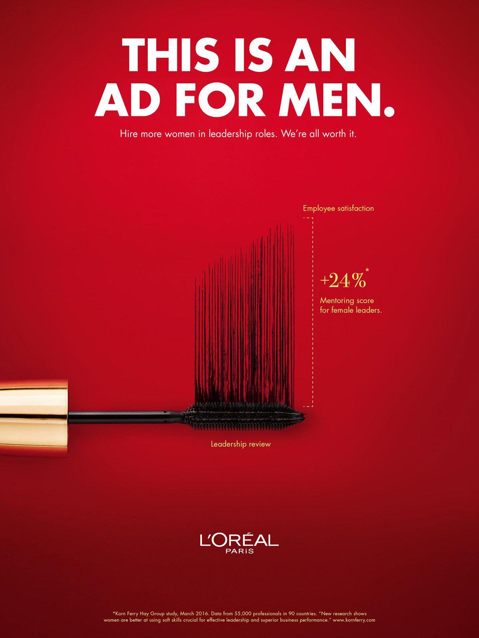 Affiche campagne publicitaire loreal genre