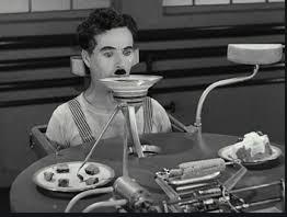 Illustration extrait des Temps Modernes Charlie Chaplin Manger