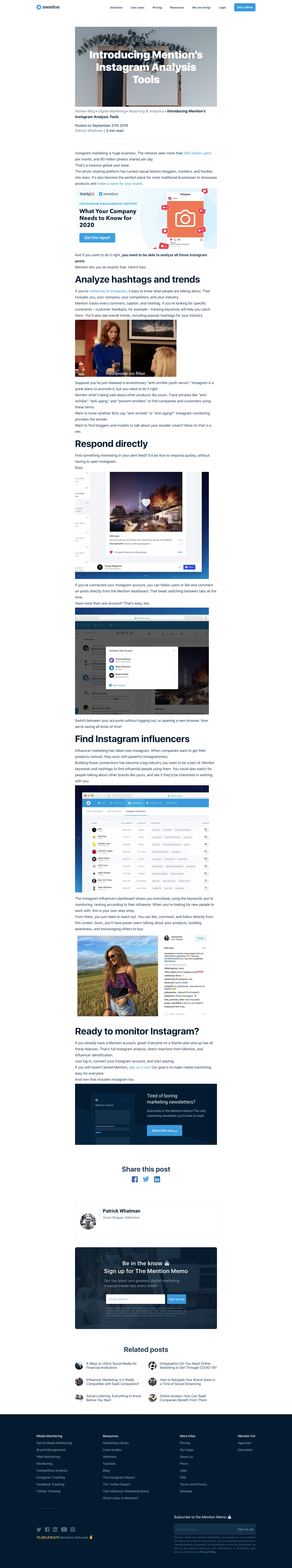 Introducing Mention's Instagram Analysis Tools