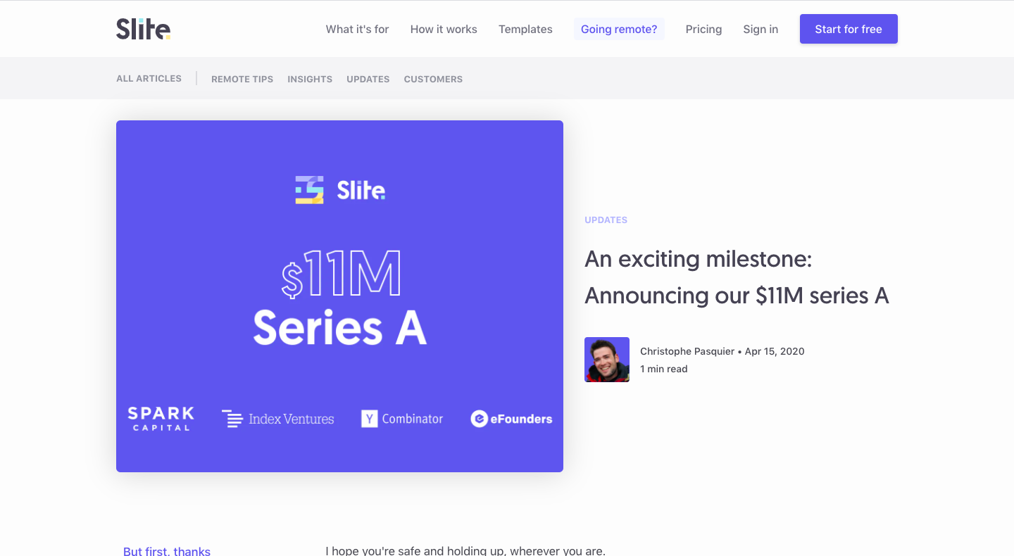 An exciting milestone: Announcing our $11M series A