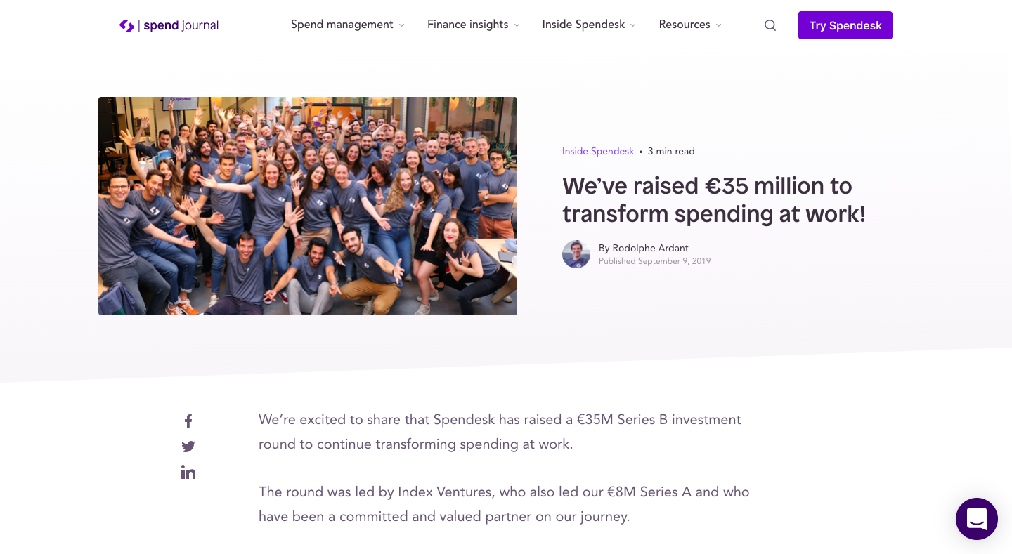 We've raised €35 million to transform spending at work!