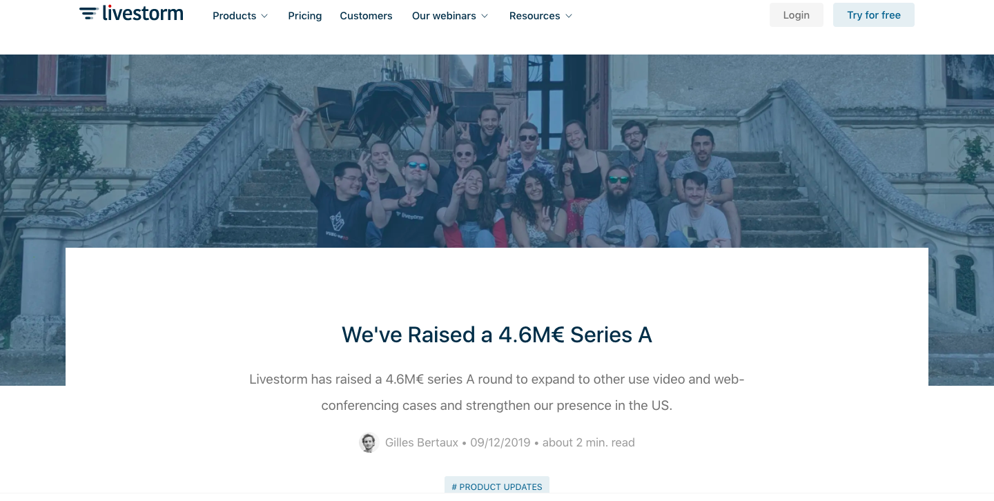 We've Raised a 4.6M€ Series A