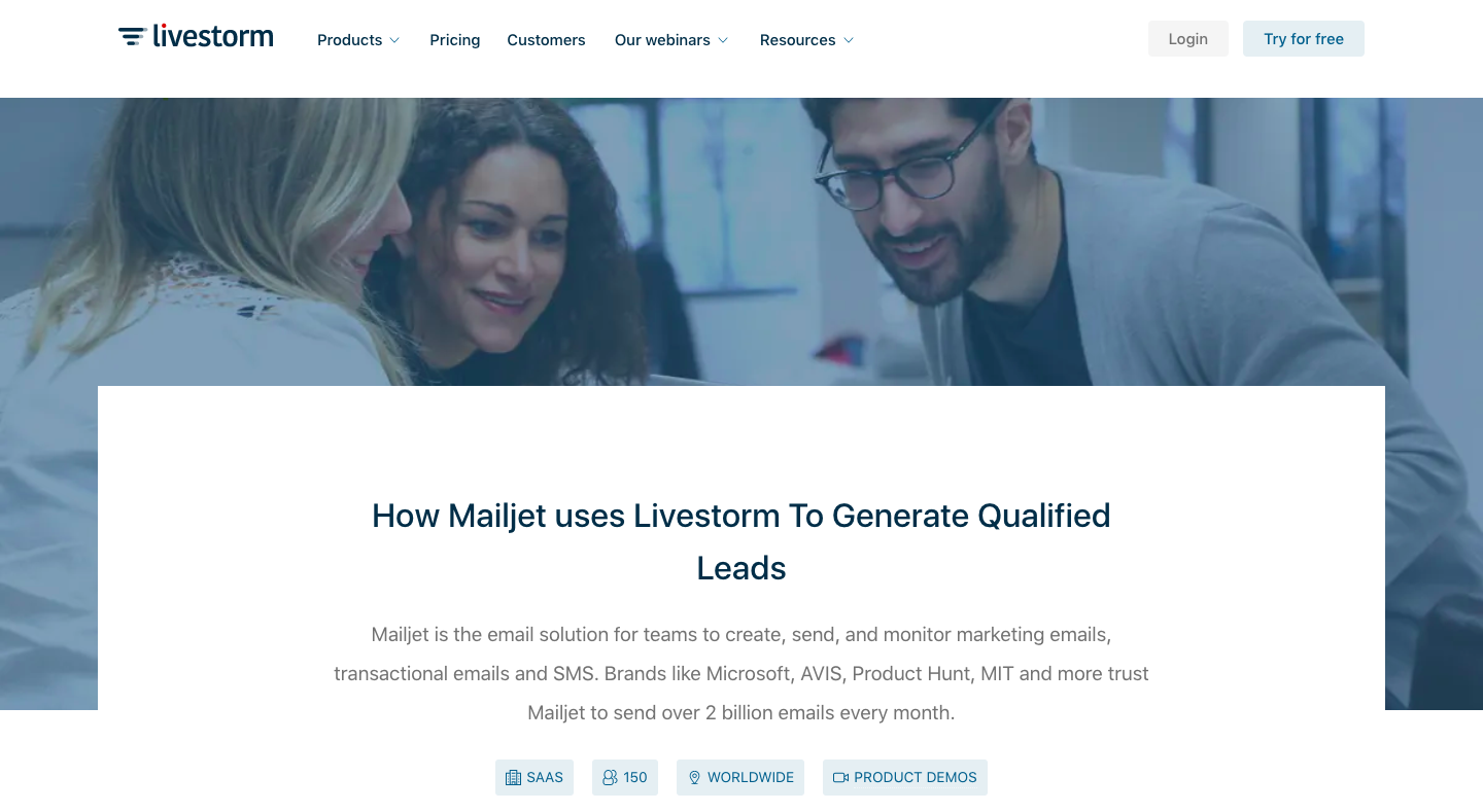 How Mailjet uses Livestorm To Generate Qualified Leads