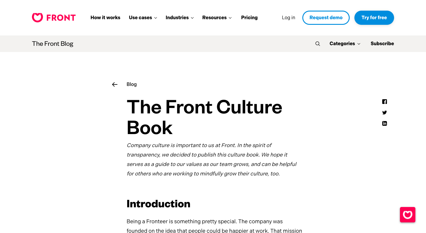 The Front Culture Book