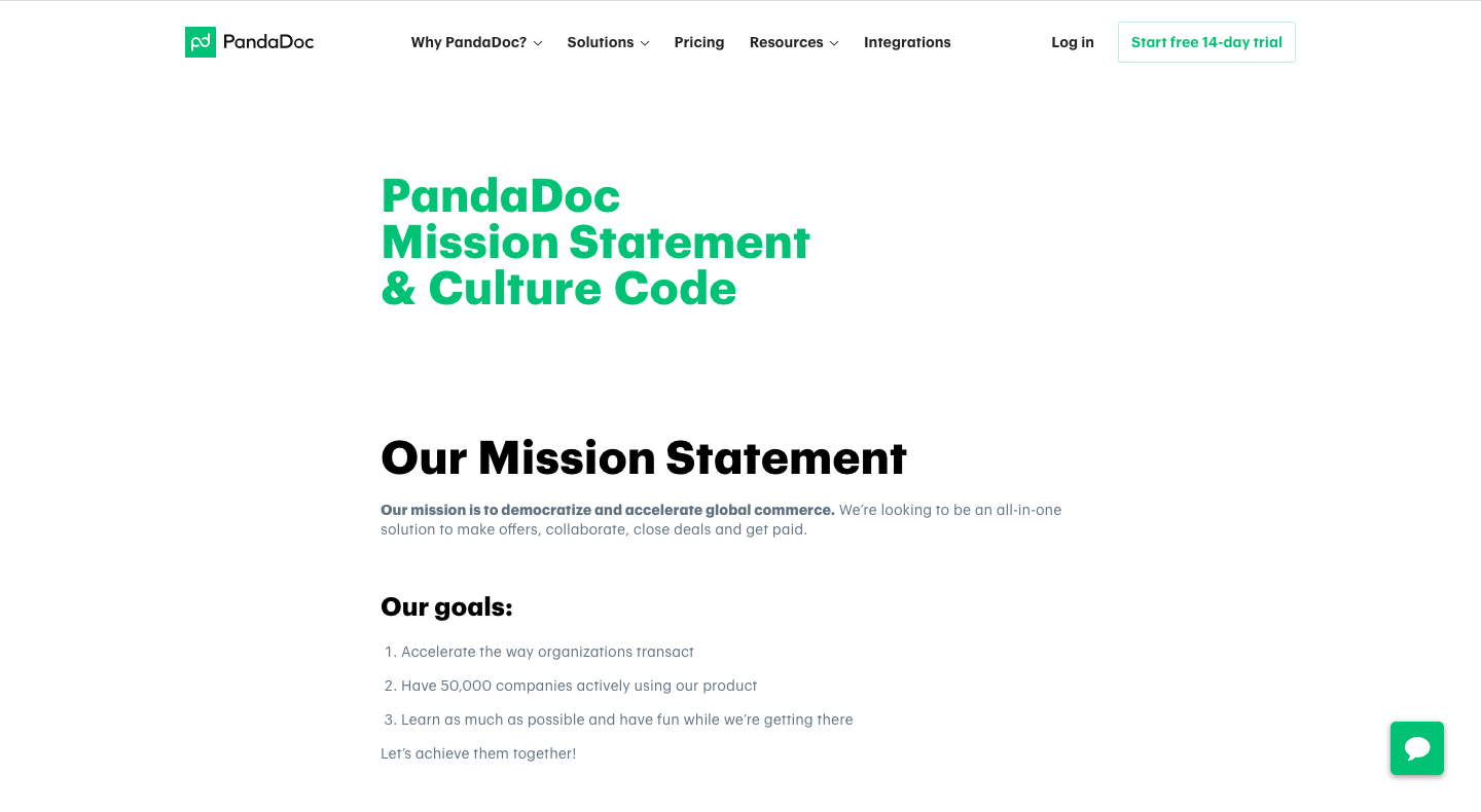PandaDoc Mission Statement & Culture Code