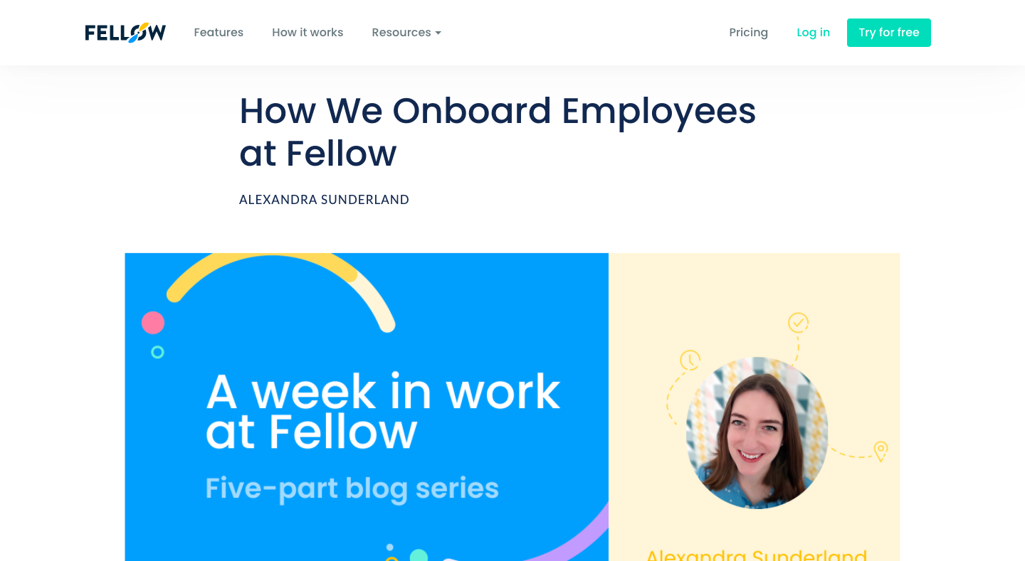 How We Onboard Employees at Fellow
