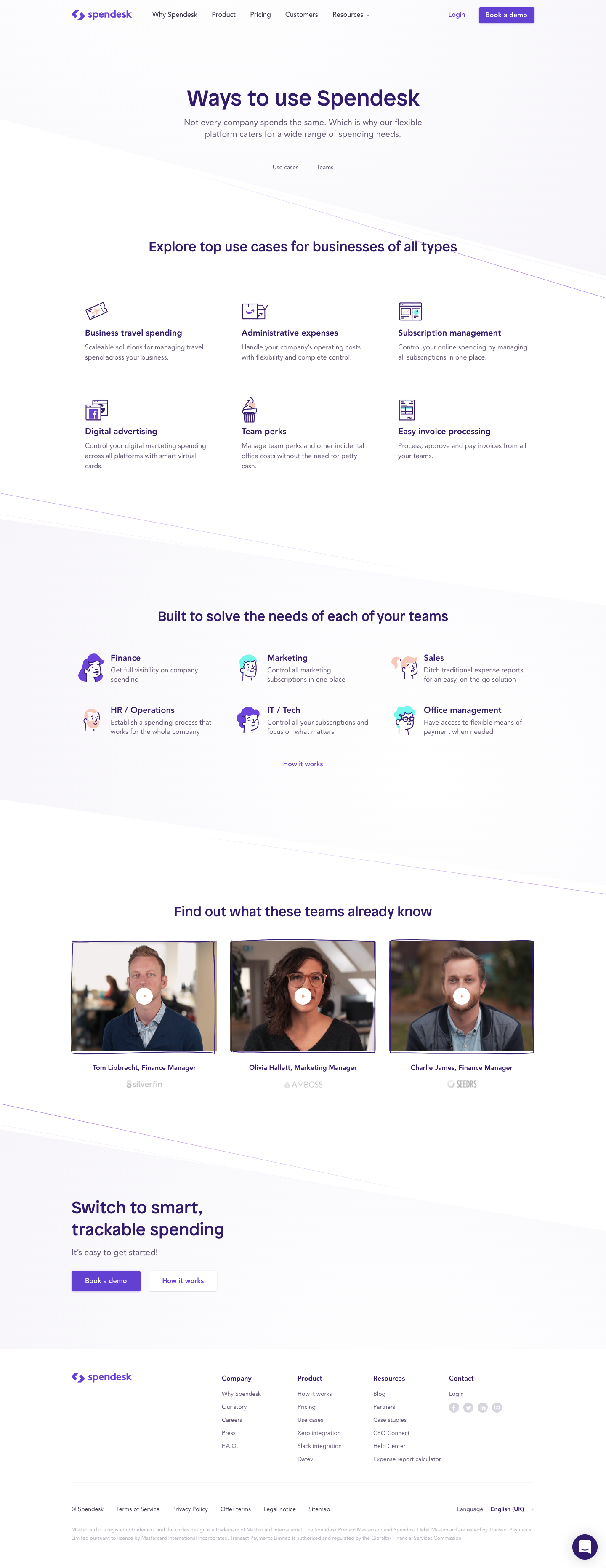 Spendesk's Use cases