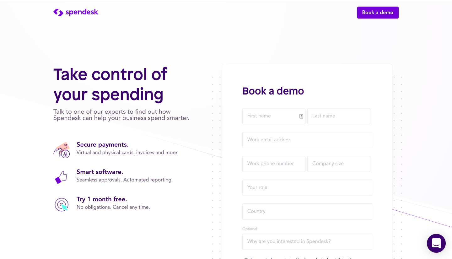 Spendesk's Demo Request