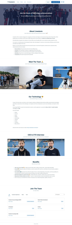 Livestorm Careers Page