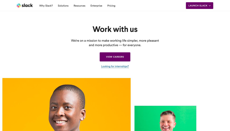 Slack Careers Page