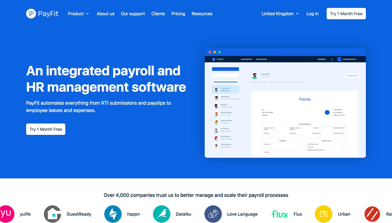 Payfit Landing Page
