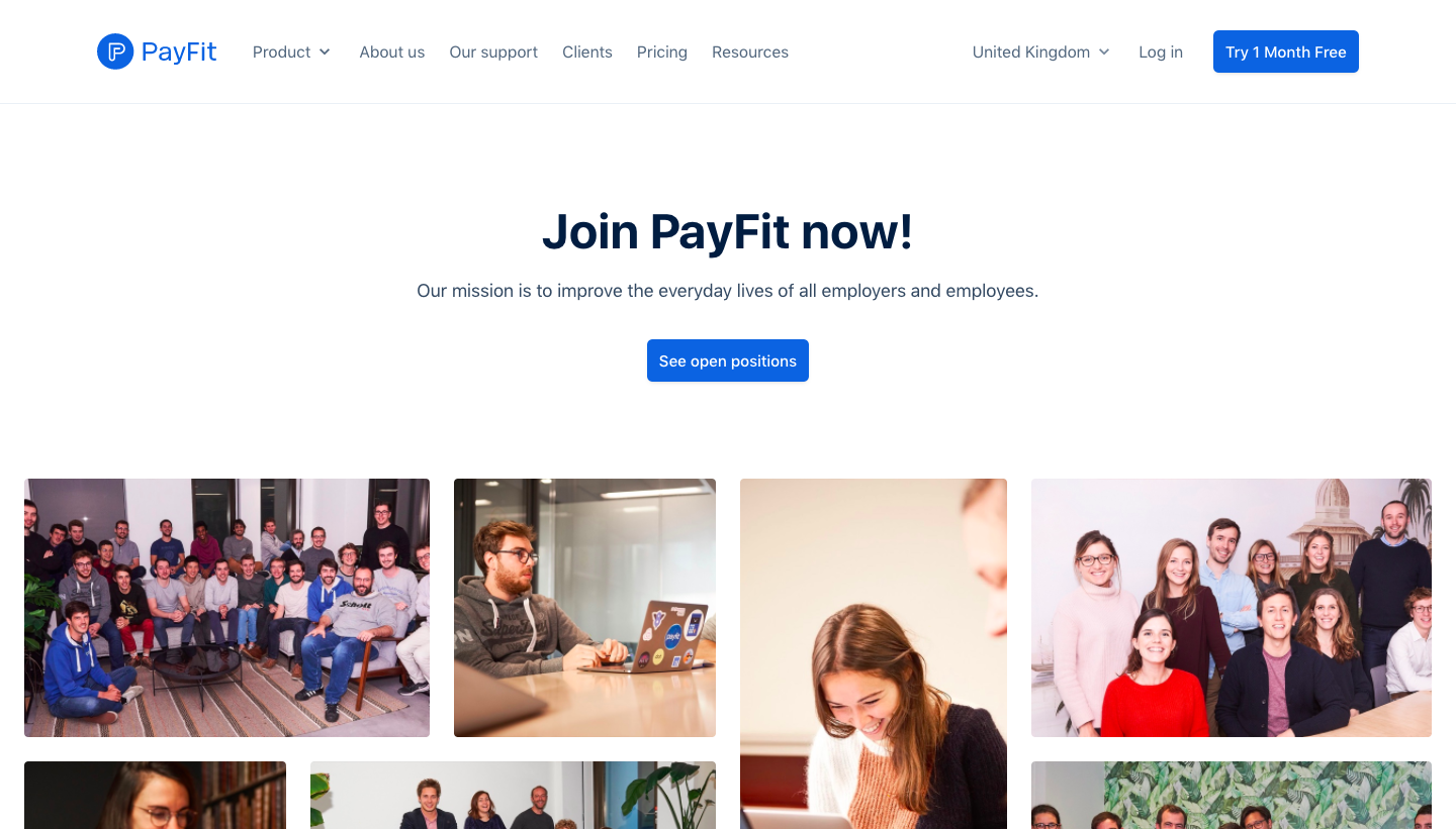 Payfit Careers Page