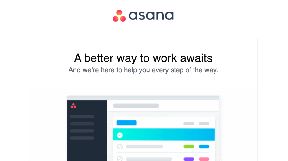 Asana Welcome Email