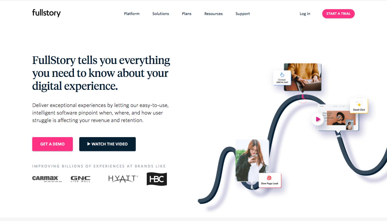 Fullstory Landing Page