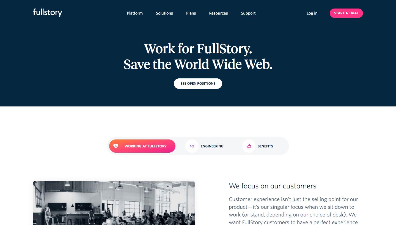 Fullstory Careers Page