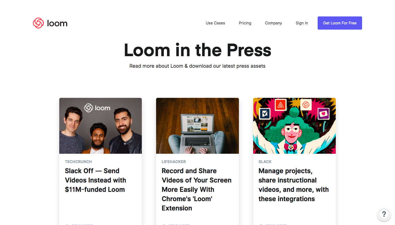 Loom Press Page