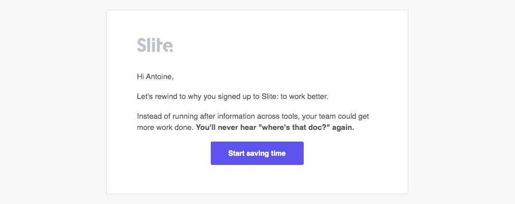 Slite Onboarding Emails