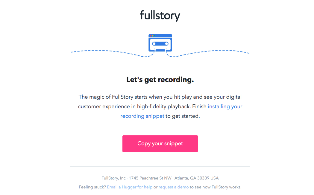 Fullstory Onboarding Emails