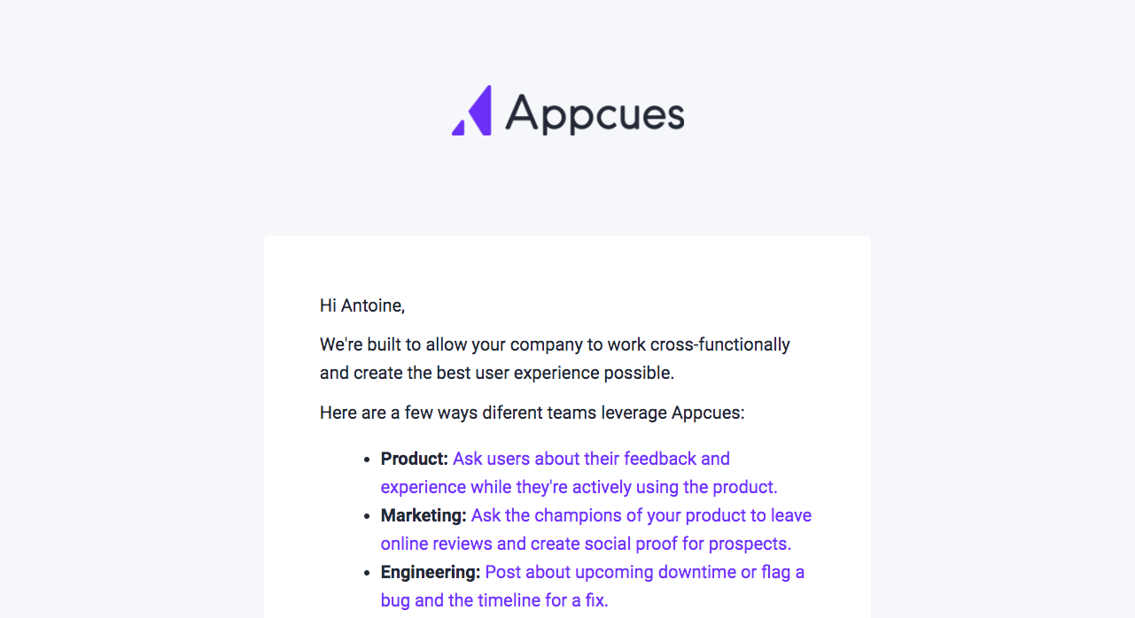 Appcues Onboarding Emails