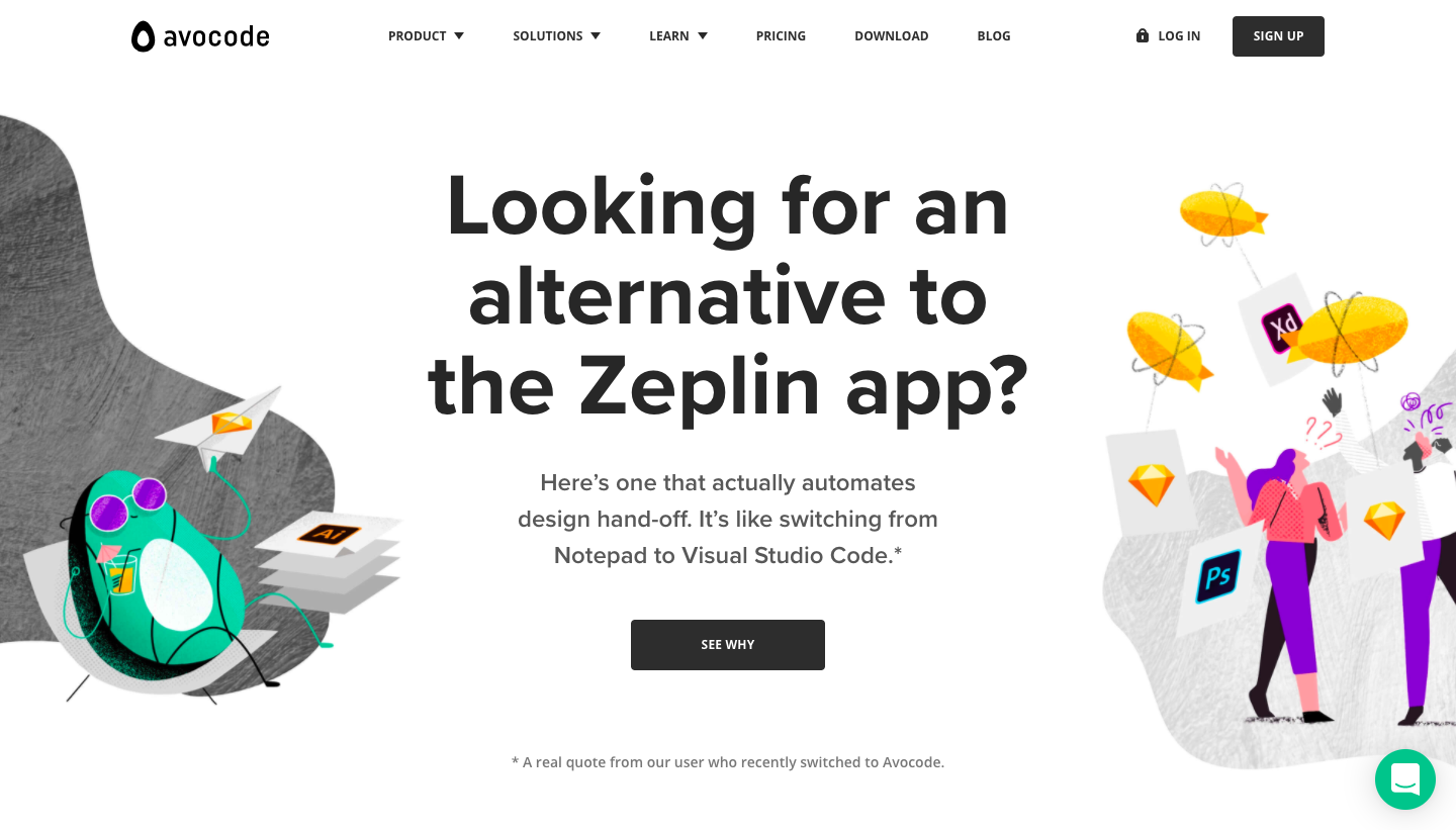 Avocode Compared to Zeplin