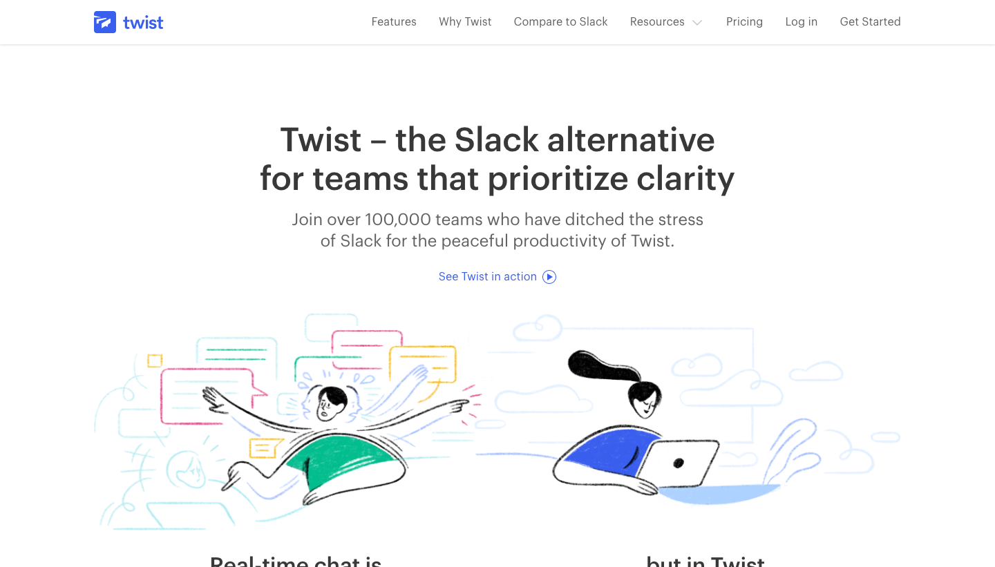 Twist compared to Slack